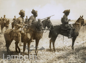OFFICIAL WWI PHOTO: INDIAN ARMY BENGAL LANCERS, URAIGNES