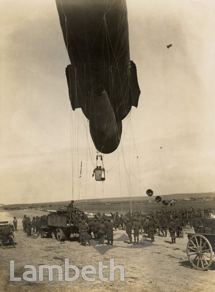 OFFICIAL WWI PHOTO: KITE BALLON ASCENDING, WESTERN FRONT