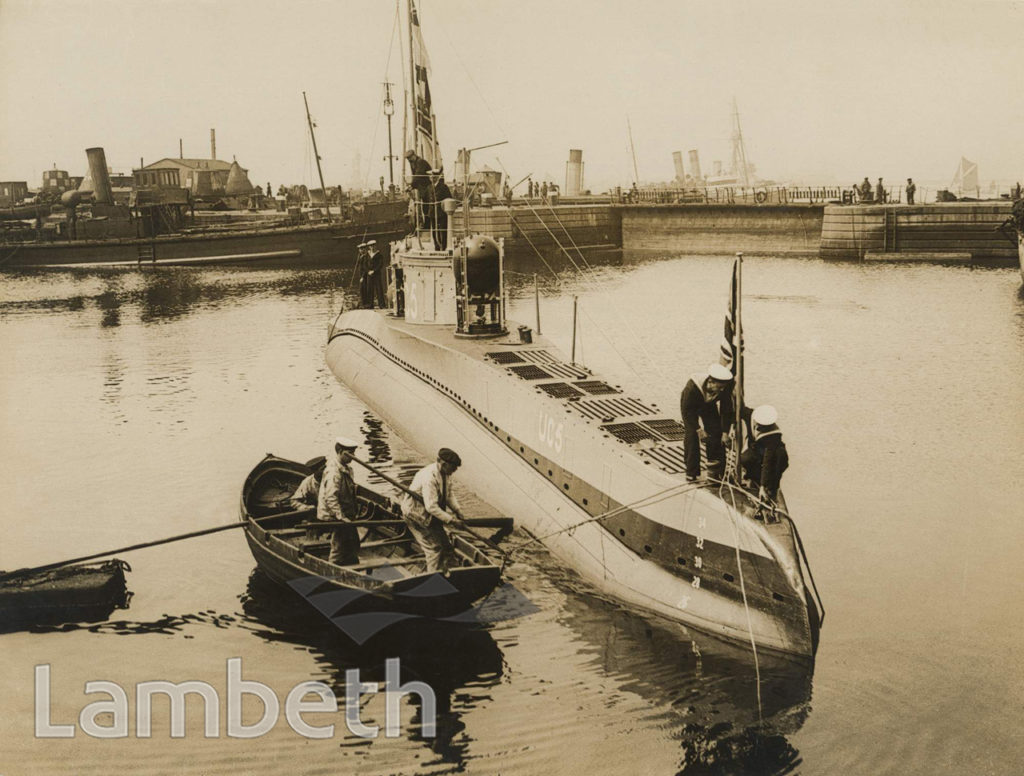 OFFICIAL WWI PHOTO: GERMAN MINE-LAYING U-BOAT