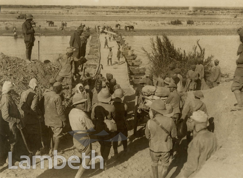 OFFICIAL WWI PHOTO: BRIDGE ACROSS THE DIALA, MESOPOTAMIA