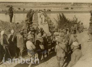 OFFICIAL WWI PHOTO: BRIDGE ACROSS THE DIALA, MESOPOTAMIA