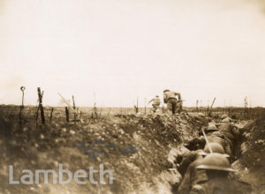OFFICIAL WWI PHOTO: 'OVER THE TOP' BRITISH RAIDING PARTY