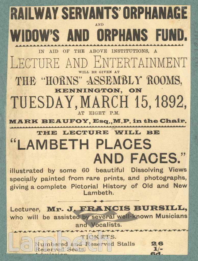 ORPHANS' CHARITY EVENT: HORNS ASSEMBLY ROOMS, KENNINGTON