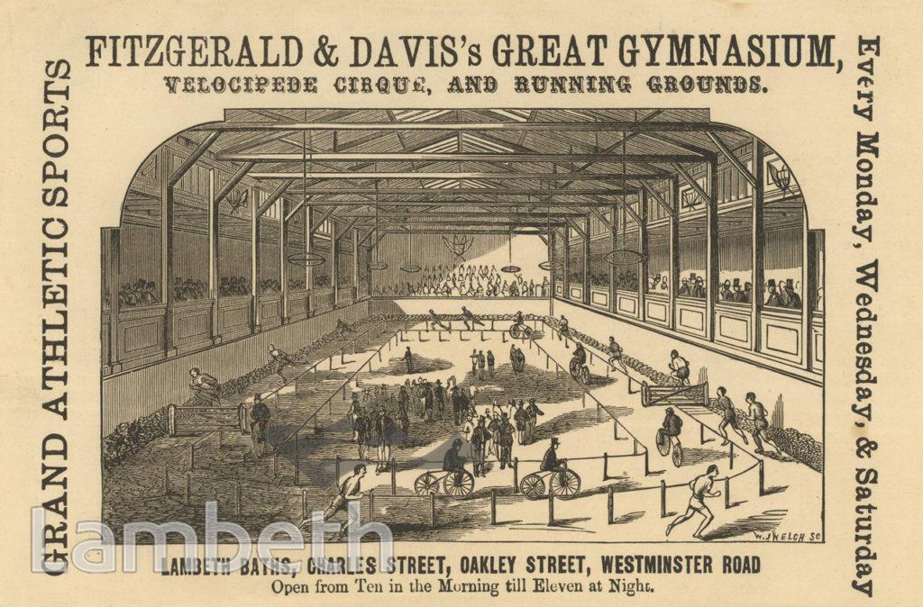 FITZGERALD & DAVIS'S GYM, LAMBETH BATHS, OAKLEY STREET
