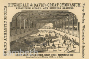 FITZGERALD & DAVIS'S GYM, LAMBETH BATHS, OAKLEY STREET