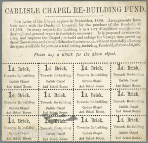 CARLISLE CONGREGATIONAL CHAPEL, KENNINGTON LANE