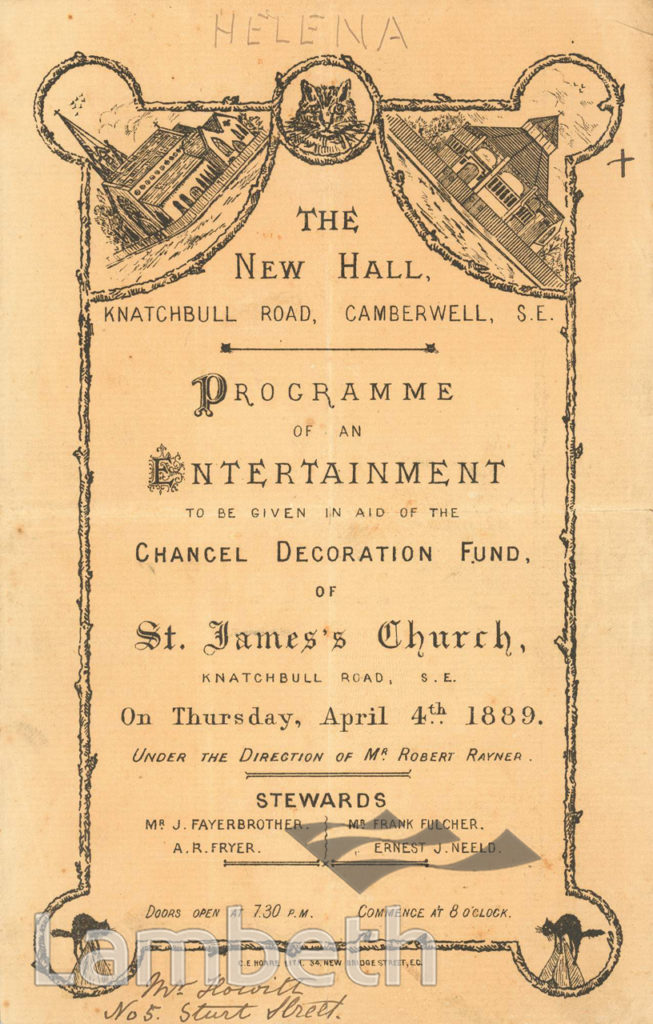 ST JAMES'S, EVENT: NEW HALL, KNATCHBULL ROAD, BRIXTON NORTH