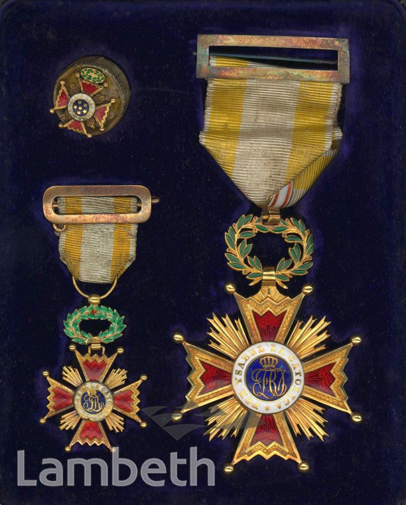 ORDER OF SPAIN, AWARDED TO BLONDIN