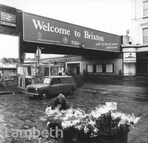 WELCOME TO BRIXTON SIGN, BRIXTON ROAD