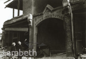 BOMB DAMAGE, BROWN INSTITUTION, WANDSWORTH ROAD, VAUXHALL