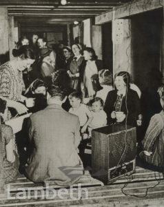 LAMBETH AIR RAID SHELTER, WWII