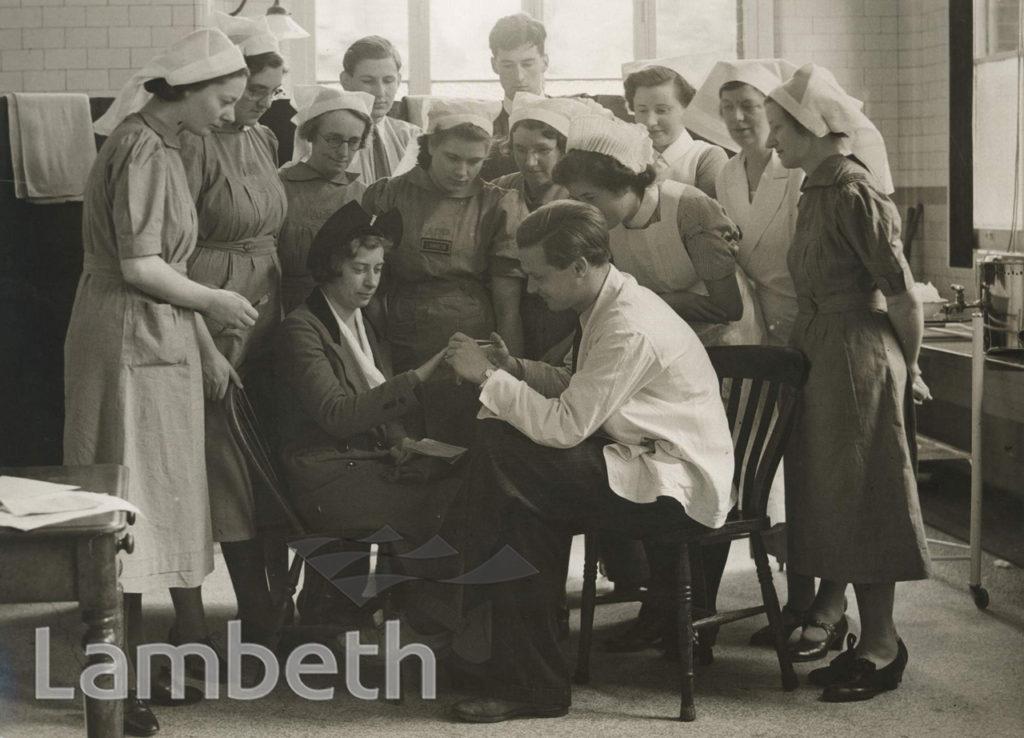 WWII FIRST AID TRAINING, ST THOMAS' HOSPITAL, LAMBETH