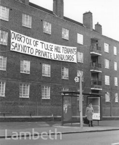 COUNCIL HOUSE SALES PROTEST, TULSE HILL ESTATE