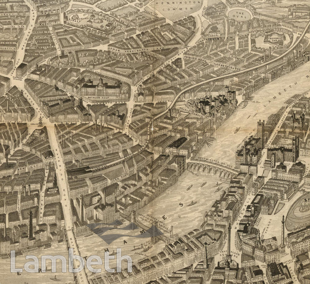 AERIAL VIEW OF WATERLOO & LAMBETH