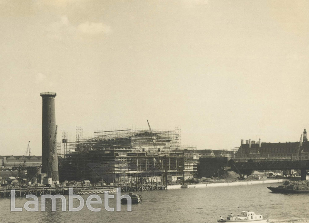 CONSTRUCTION OF FESTIVAL HALL, SOUTH BANK