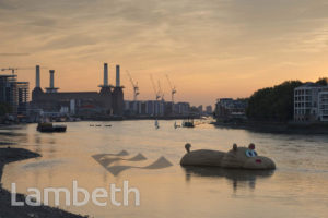 HIPPO ARTWORK, RIVER THAMES, VAUXHALL
