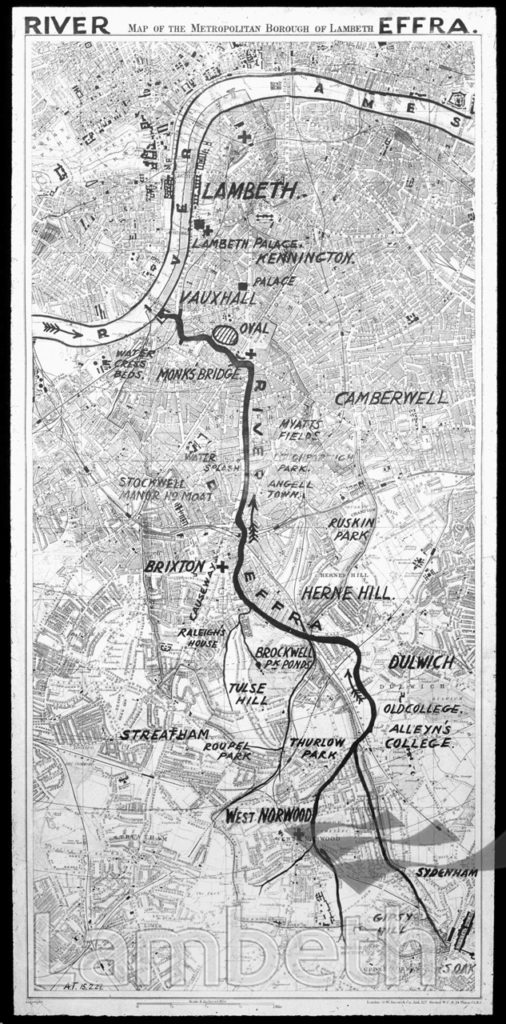 COURSE OF RIVER EFFRA, LAMBETH