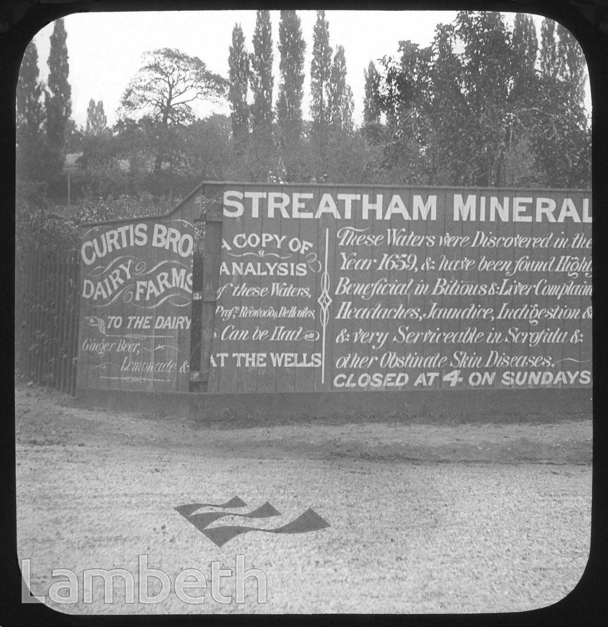 STREATHAM MINERAL WELLS/ CURTIS BROS DAIRY, VALLEY ROAD