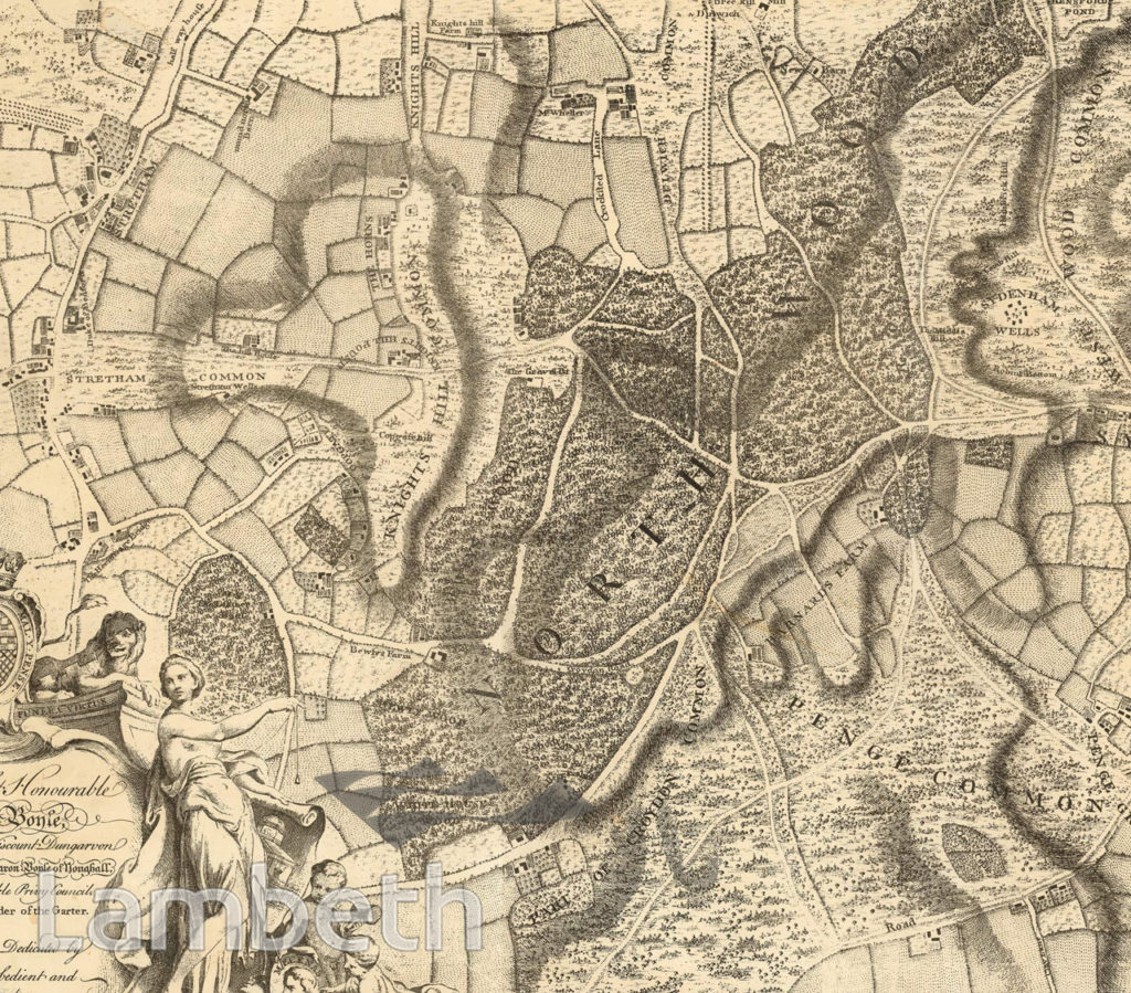 THE GREAT NORTH WOOD – ROCQUE MAP, NORWOOD