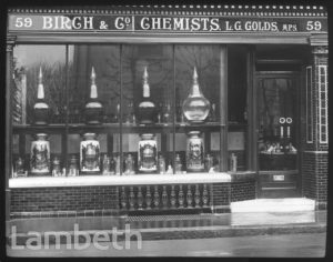 BIRCH & CO, CHEMIST, 59 CHURCH ROAD, UPPER NORWOOD