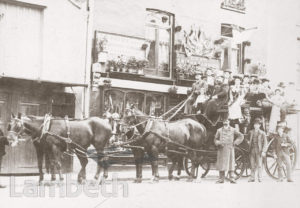 HORSE-DRAWN COACH OUTING, CROWN LANE, UPPER NORWOOD