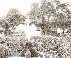FOUNTAIN, WALLED GARDEN, BROCKWELL PARK, HERNE HILL
