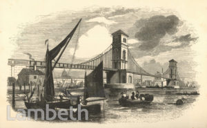 LAMBETH & HUNGERFORD SUSPENSION BRIDGE