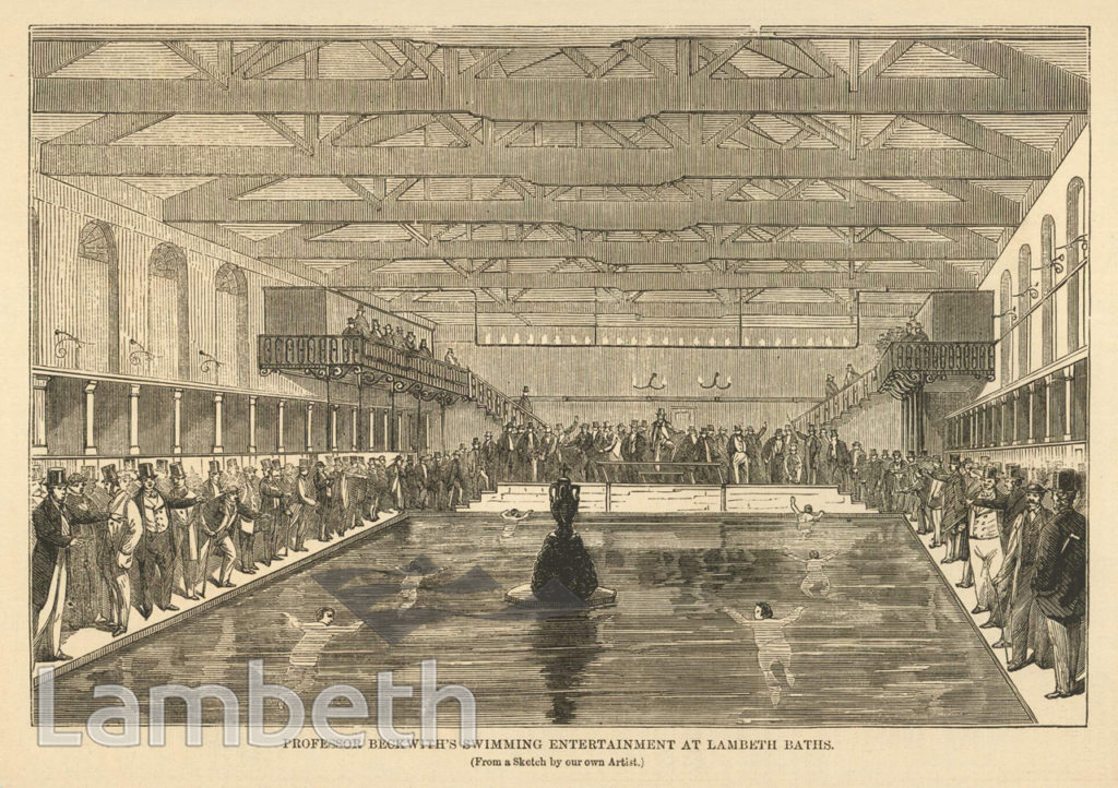 BECKWITH SWIMMING ENTERTAINMENT, LAMBETH BATHS.