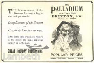 ADVERT: SEASONS GREETINGS, PALLADIUM, BRIXTON HILL