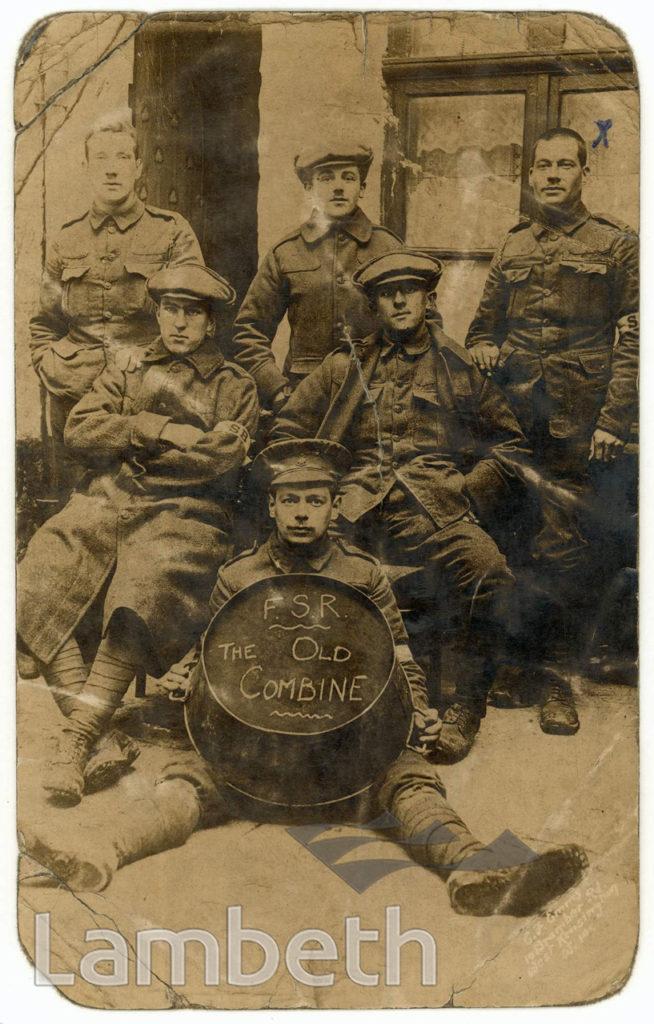 WORLD WAR I: FIRST SURREY RIFLES STRETCHER BEARERS