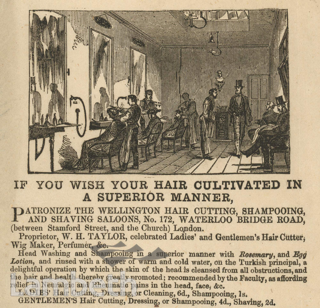 WELLINGTON HAIR SALOON, 172 WATERLOO ROAD