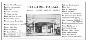 ELECTRIC PICTURE PALACE, VENN STREET, CLAPHAM
