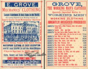 E. GROVE, CLOTHIER, 37-41 LOWER MARSH, LAMBETH