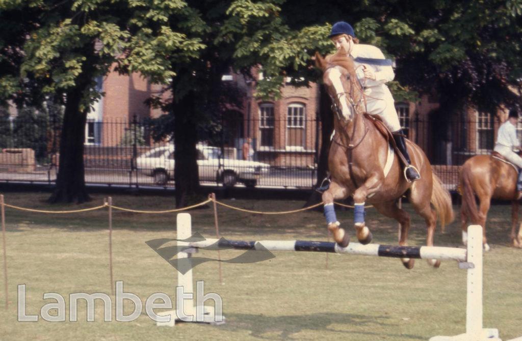HORSE JUMPING, BROCKWELL PARK, HERNE HILL