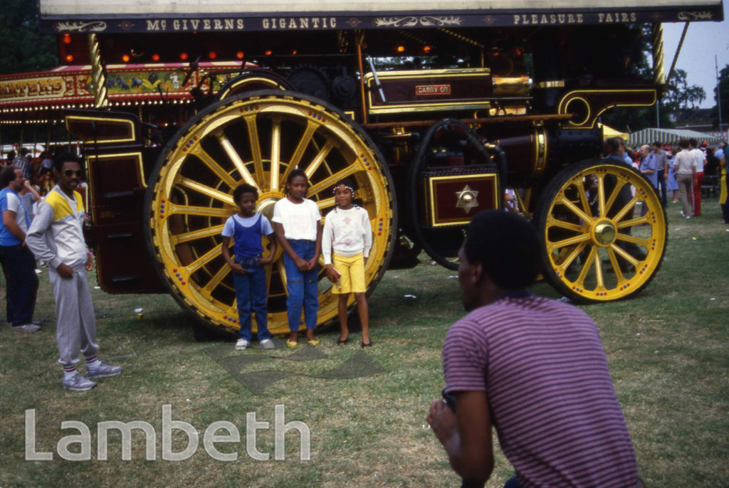 STEAM ENGINE, LAMBETH COUNTRY SHOW, BROCKWELL PARK