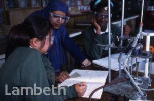 CHEMISTRY LESSON, UNKNOWN LAMBETH SCHOOL