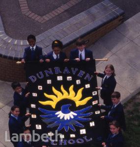 DUNRAVEN SCHOOL BANNER, LEIGHAM COURT ROAD, STREATHAM