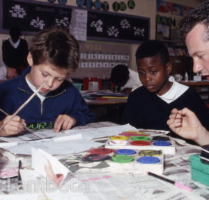 ART CLASS, CLAPHAM MANOR SCHOOL, BELMONT CLOSE, CLAPHAM