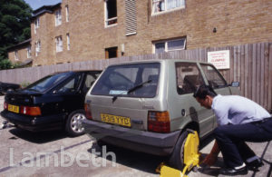 VEHICLE CLAMPING ON LAMBETH COUNCIL ESTATE