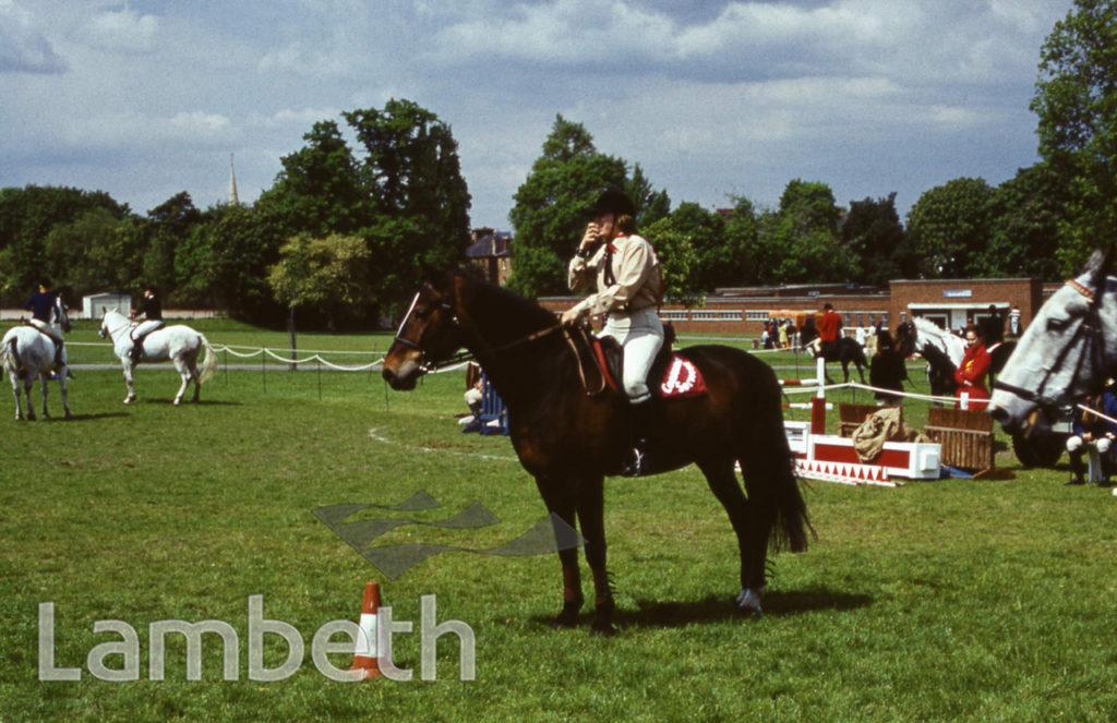 HORSE RIDING, FESTIVAL OF SPORT, BROCKWELL PARK, HERNE HILL