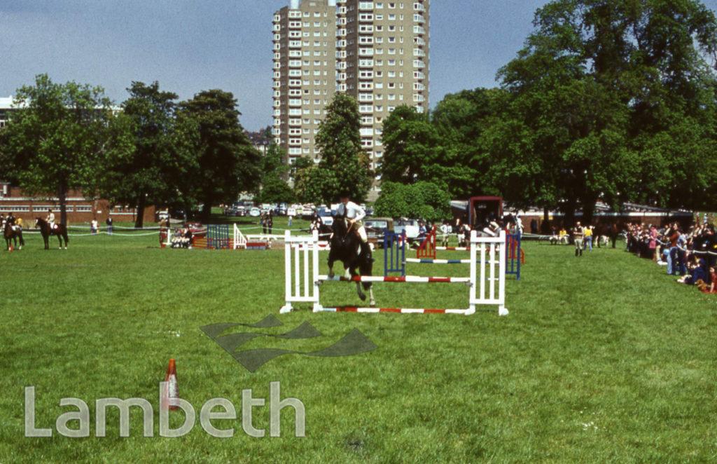 HORSE JUMPING, FESTIVAL OF SPORT, BROCKWELL PARK