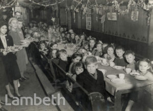 CHRISTMAS PARTY, SUNDAY SCHOOL, SUSSEX ROAD, BRIXTON
