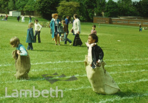 CHILDREN'S SACK RACE, FESTIVAL OF SPORT, BROCKWELL PARK