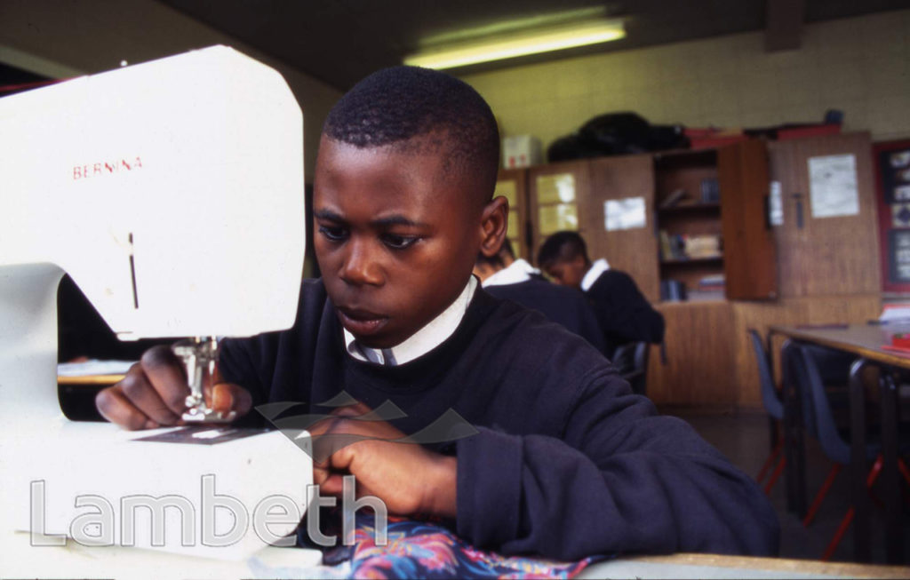 SEWING CLASS, STOCKWELL PARK SCHOOL, STOCKWELL