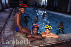 SWIMMING LESSONS, STOCKWELL PARK SCHOOL, STOCKWELL