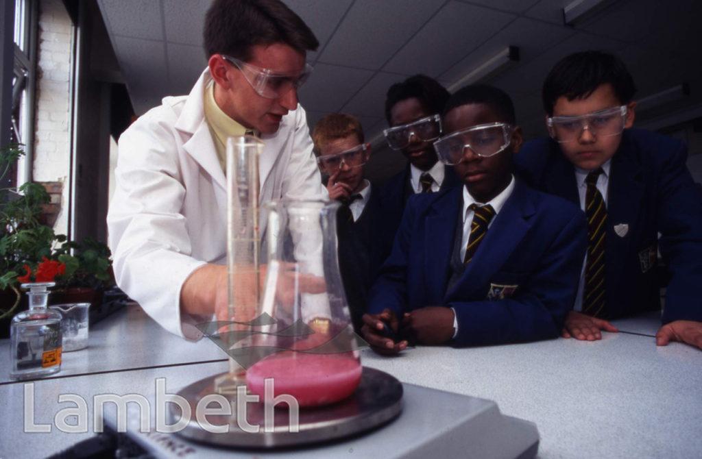 CHEMISTRY LESSON, ARCHBISHOP TENISON'S SCHOOL, OVAL
