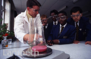 CHEMISTRY LESSON, ARCHBISHOP TENISON'S SCHOOL, OVAL
