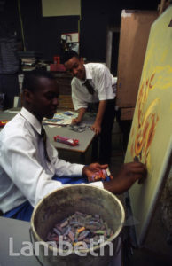 ART LESSON, ARCHBISHOP TENISON'S SCHOOL, OVAL, KENNINGTON
