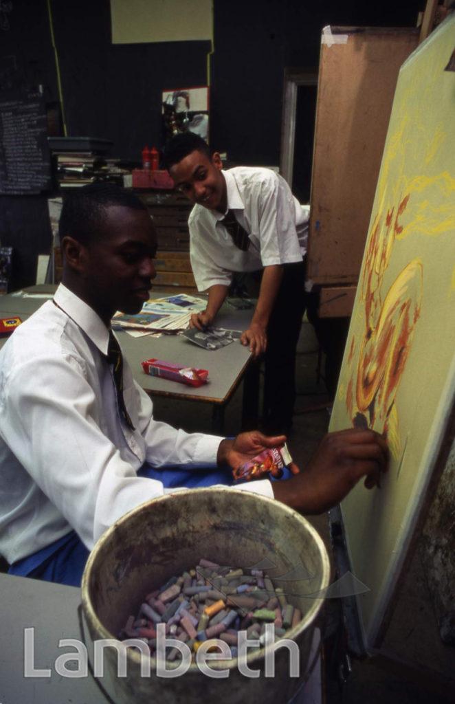 ART LESSON, ARCHBISHOP TENISON'S SCHOOL, OVAL, KENNINGTON