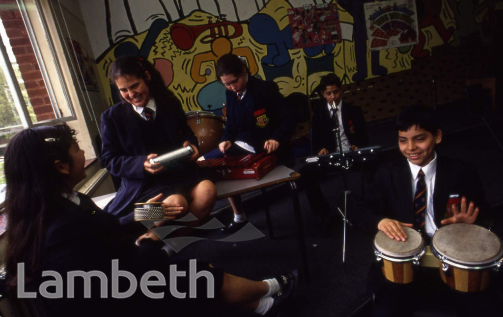 MUSIC CLASS, BISHOP GRANT SCHOOL, BELLTREES GROVE, STREATHAM